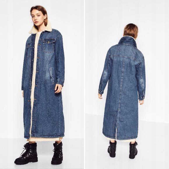 Płaszcz Zara Rozmiar S Dżinsowy Długi Jeansowy 7936657718 Oficjalne Archiwum Allegro