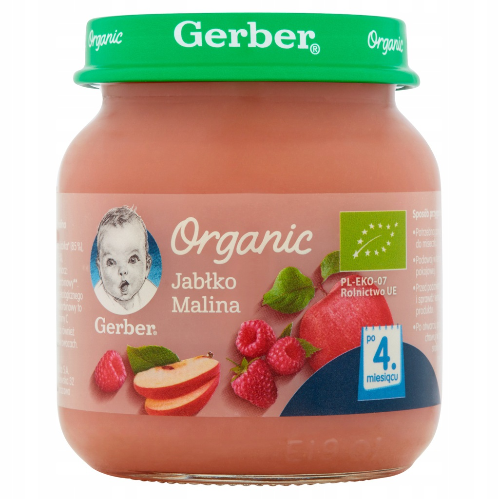 GERBER ORGANIC BIO deserek jabłko malina 125 g