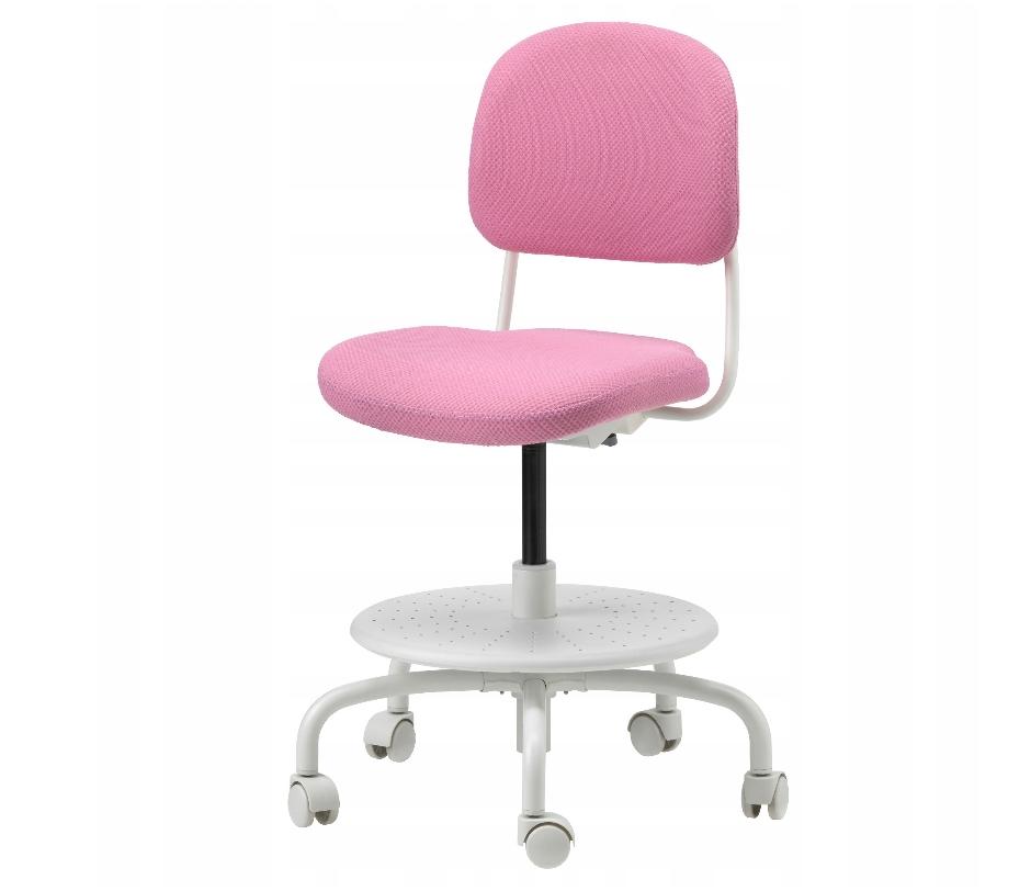 IKEA VIMUND krzesło biurowe obrotowe RÓŻOWY