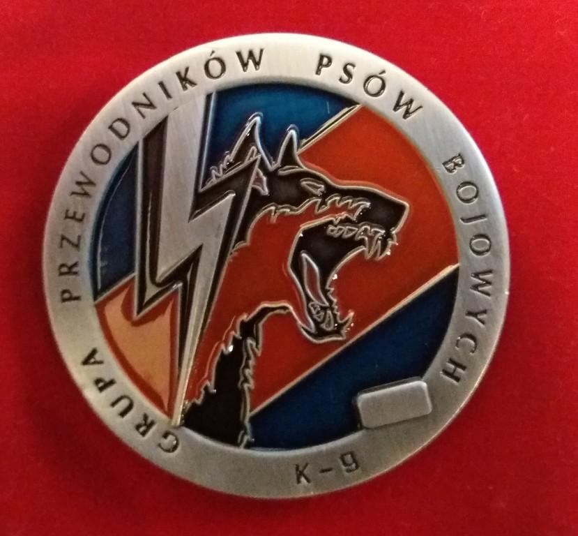 Coin Grupy Przewodników Psów Bojowych K9 JW GROM