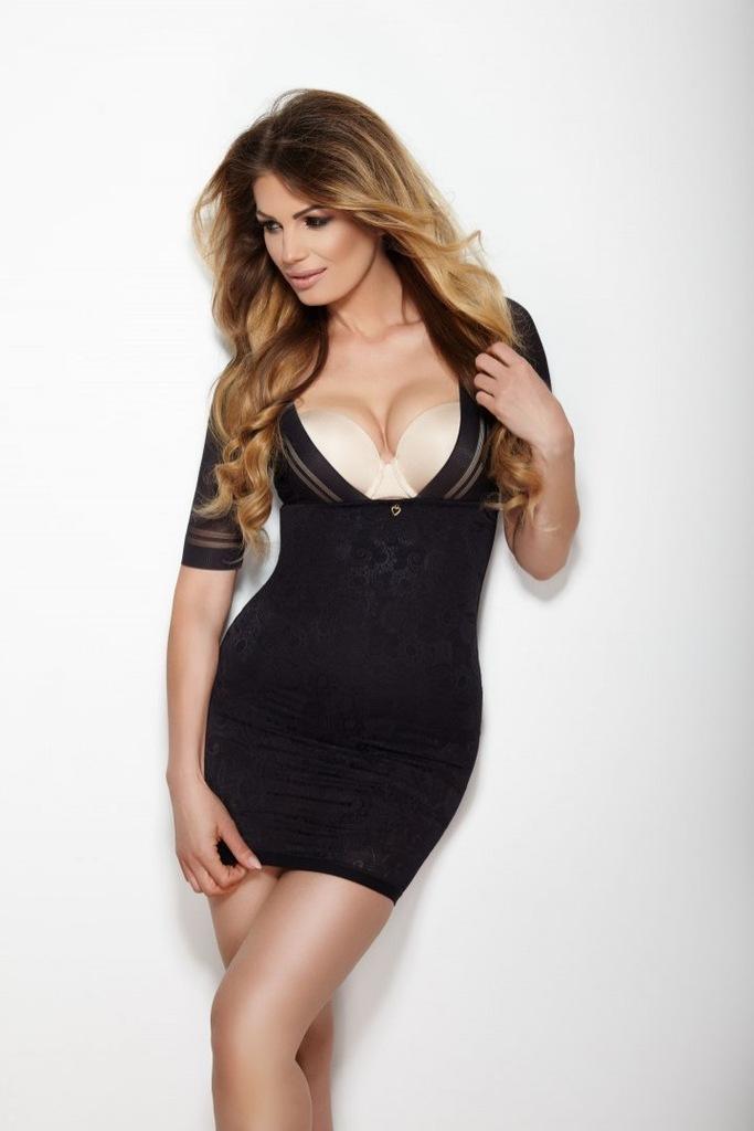 Halka Glossy Dress Czarna