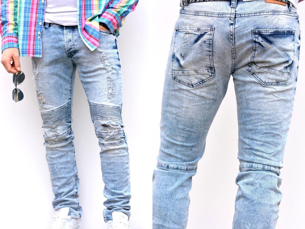 Spodnie LIGHT JEANS Jeansowe Rozmiar W38/L34