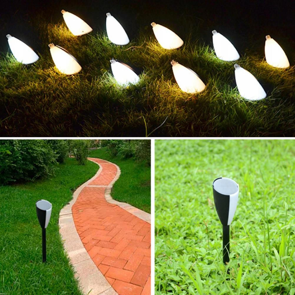 2pcs Solar Power Lawn Lamp Pin Light Stick Lamp Ou