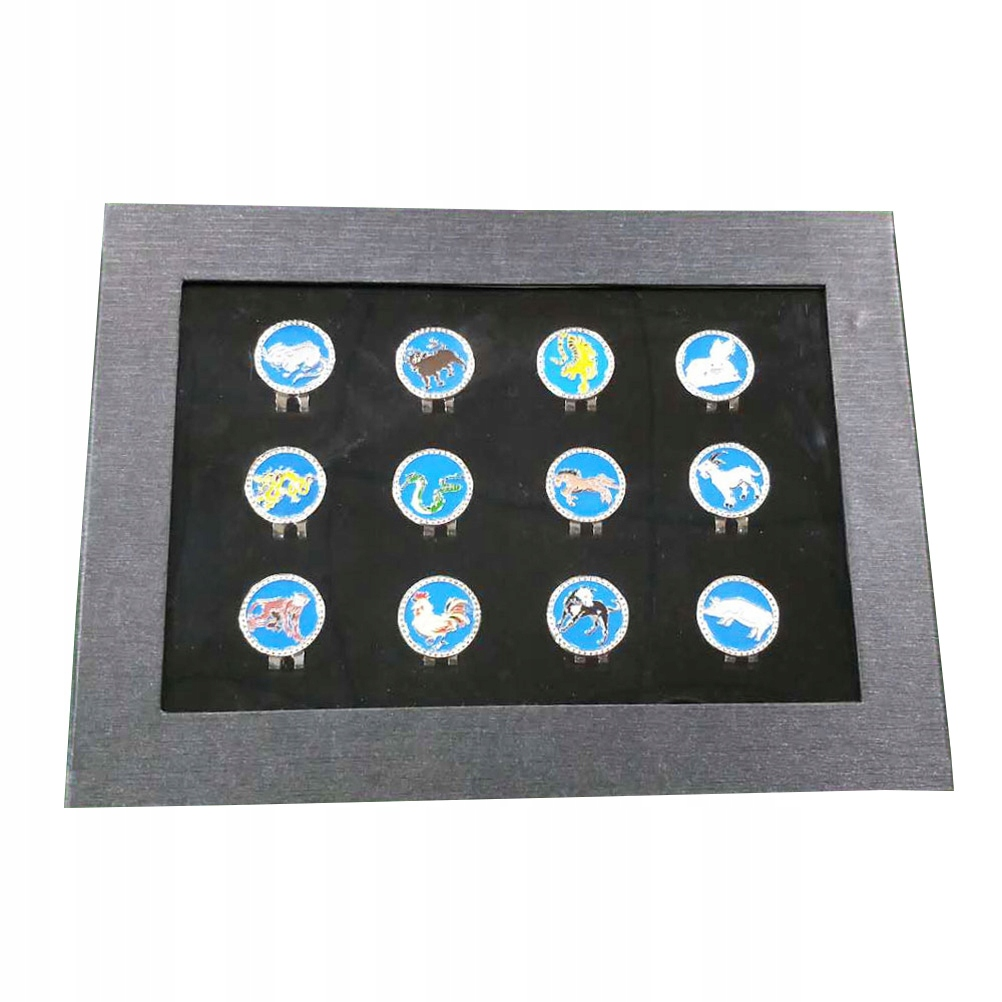 12 Pcs Golf Ball Markers Magnetic Chinese Zodiac