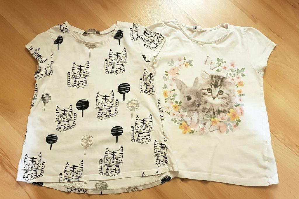 Bluzeczki Lindex i H&M kotki