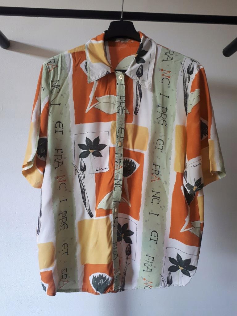 Koszula damska M wzorzysta retro vintage