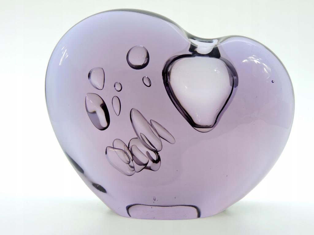 Wazon figurka serce ciężki kryształ design Murano