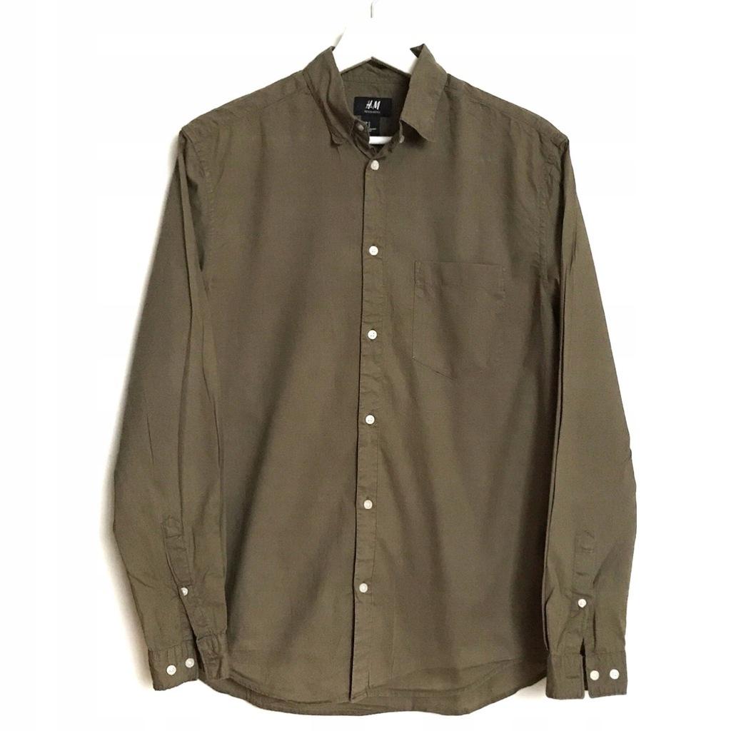 H&M koszula khaki bawełna S