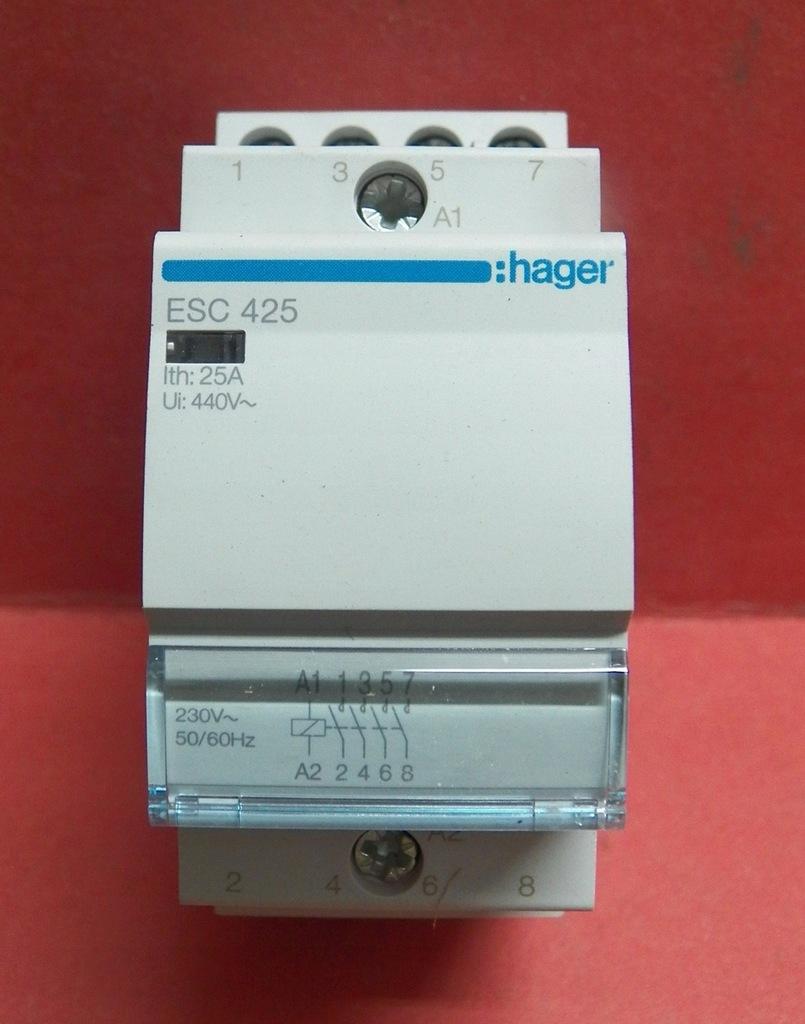 Stycznik HAGER ESC 425 / 25A 4P