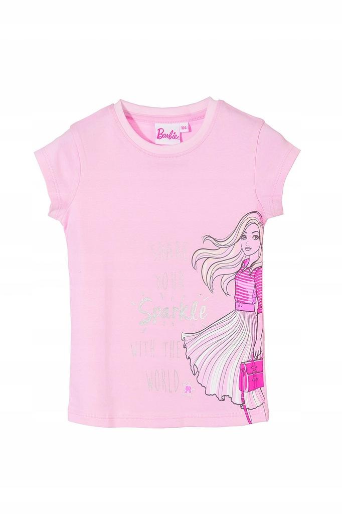 5.10.15. T-shirt dziewczecy Barbie 3I3522 128