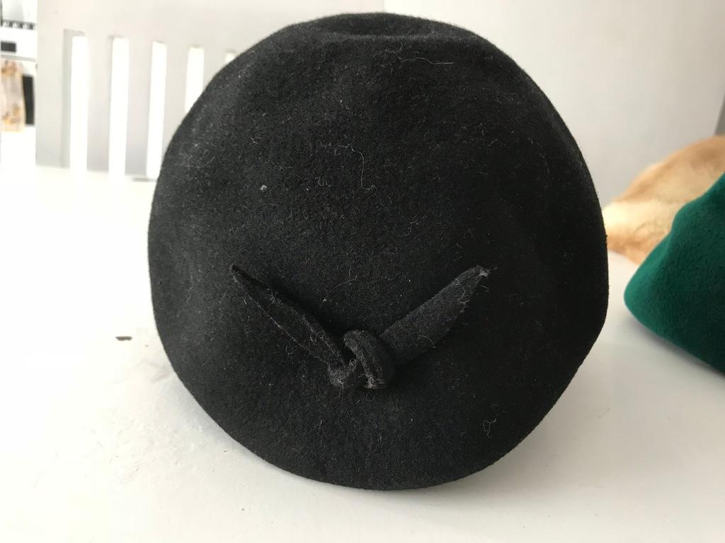 wełna naturalna czapka toczek anna karenina 56cm M