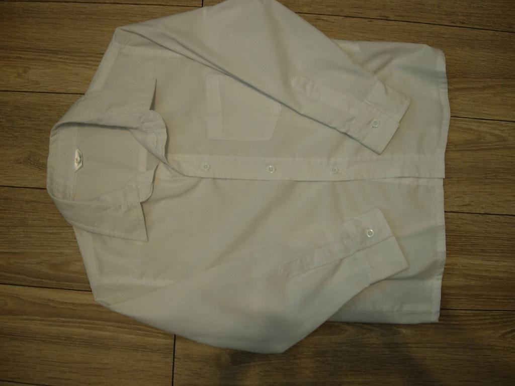 Koszula biała r.116 +zestaw
