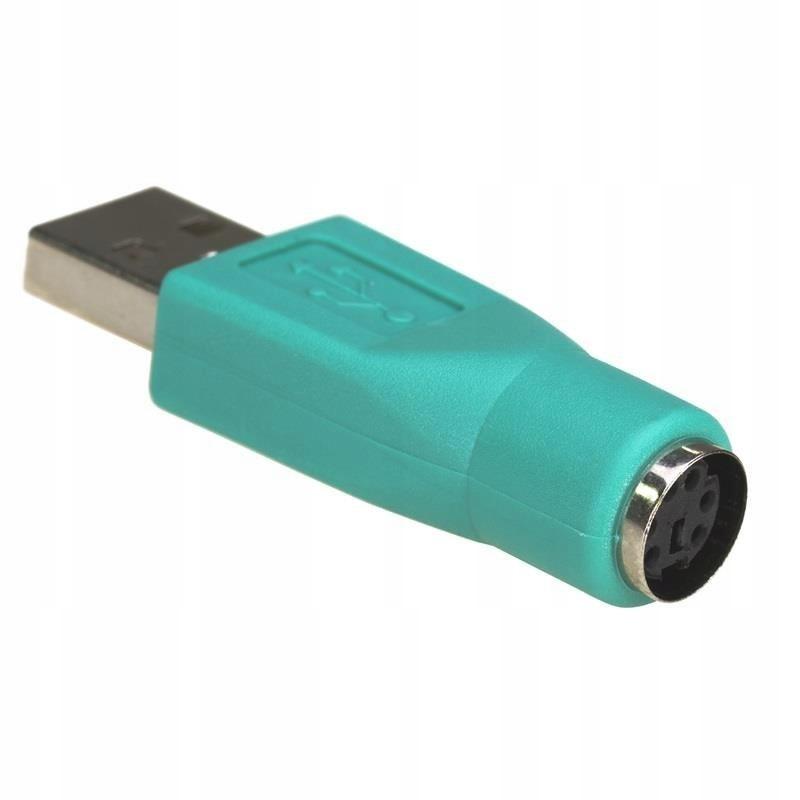 Adapter Akyga AK-AD-14 (USB M - PS/2 F; kolor ziel