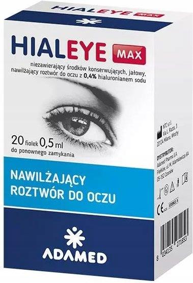 Hialeye Max 0,4% roztwór do oczu 20x0,5ml