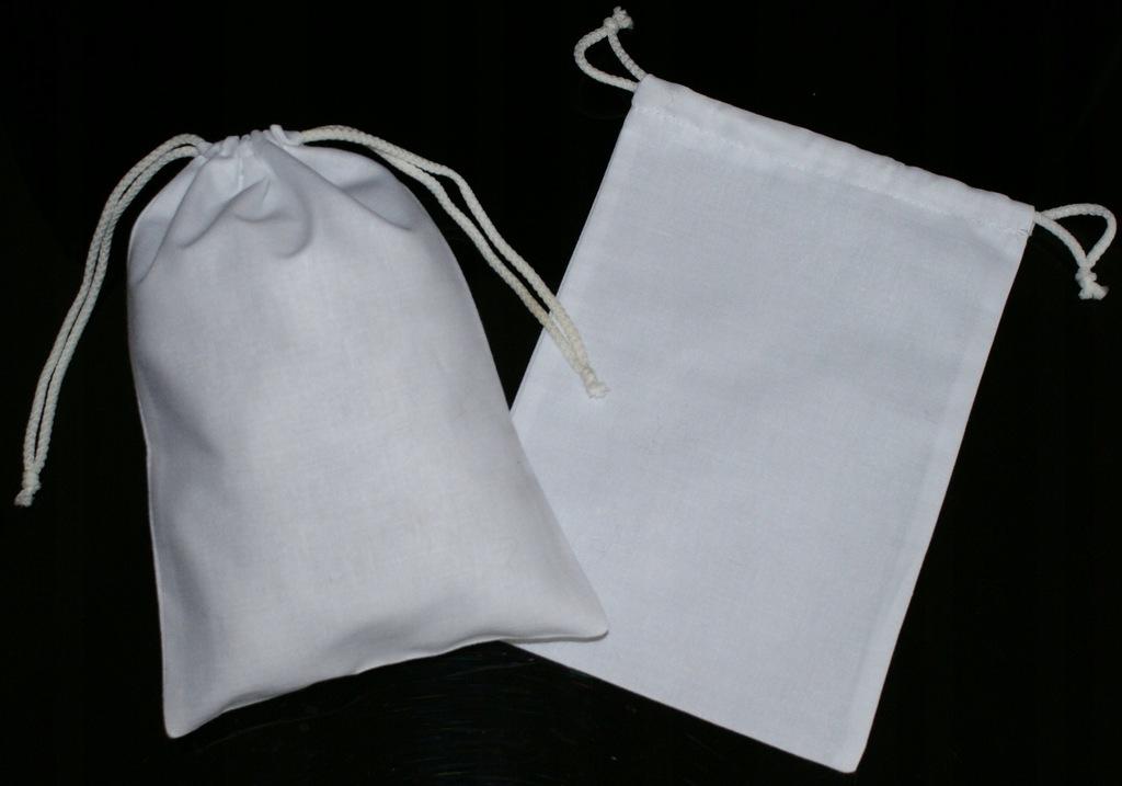 Woreczki, sakiewki - woreczek bawełniany -15/21cm