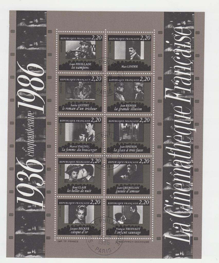 Francja1998 M Bl 7 . kas.ok + karta alb