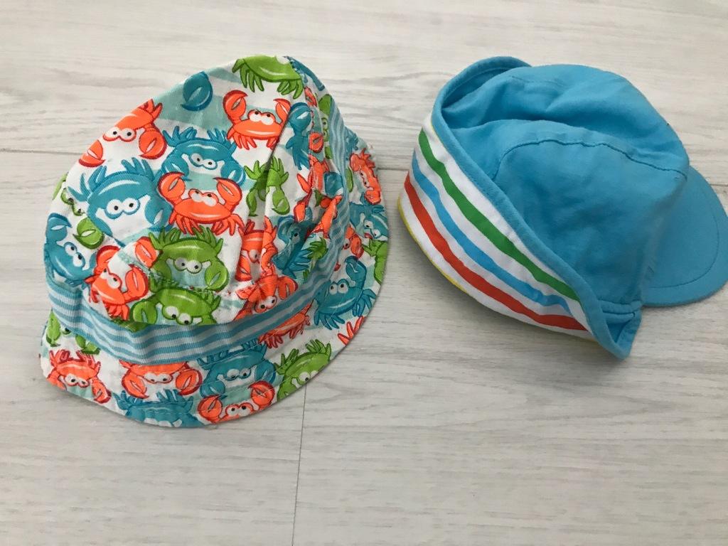 F&F 2 szt czapka z osłonką kapelusz krab 1-2
