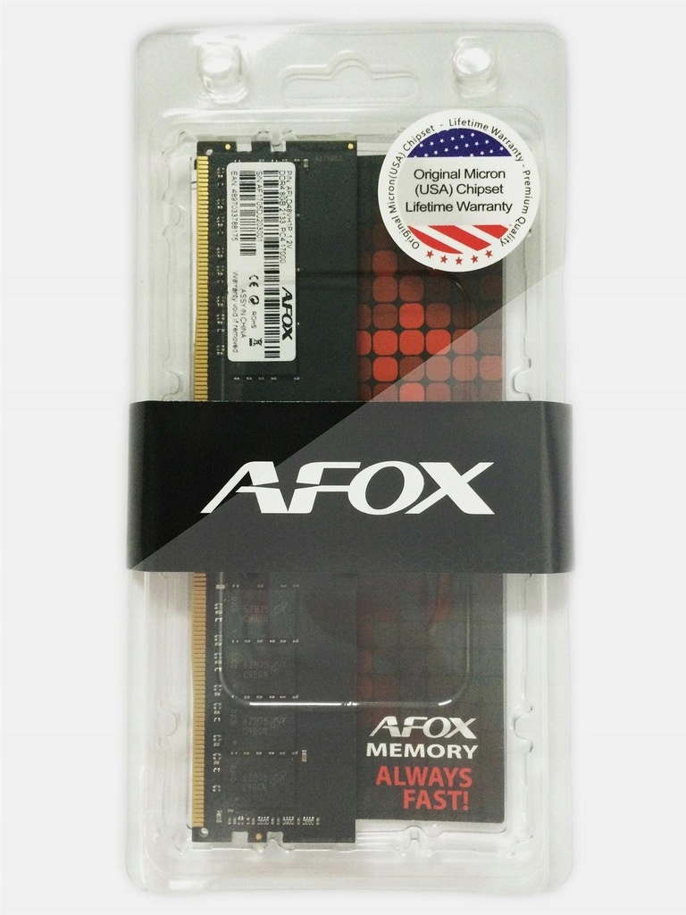 AFOX DDR4 16G 2666MHZ MICRON CHIP AFLD416FS1P