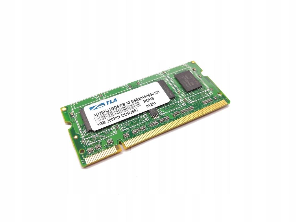 RAM ATLA 1GB SODIMM DDR2 AD2SHJ1GD5WB