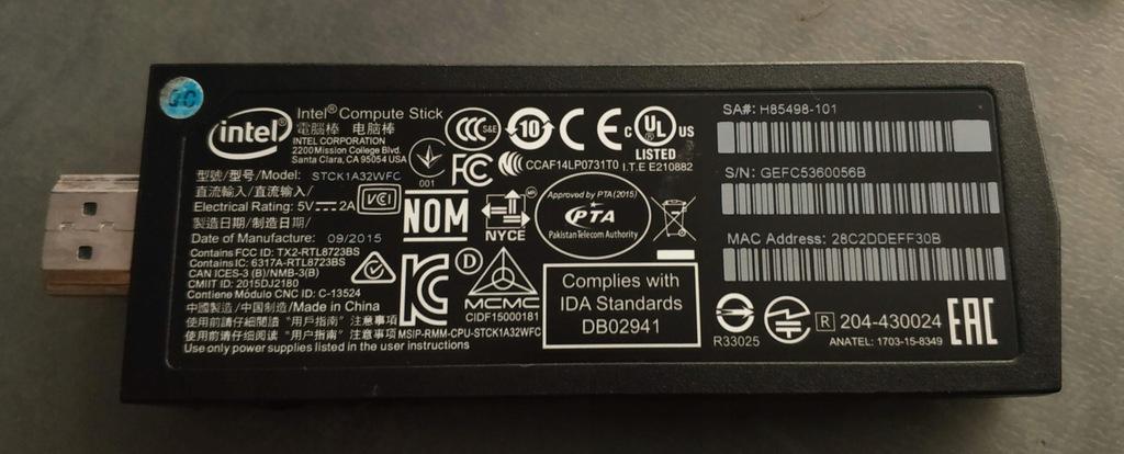 Intel Compute Stick STCK1A32WFC