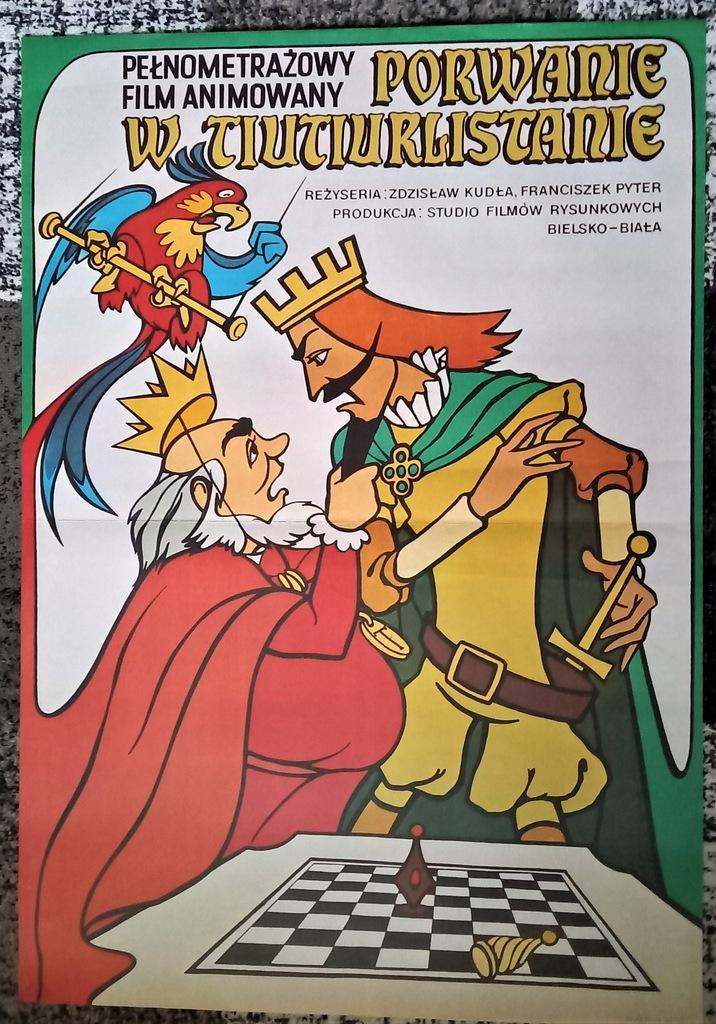 plakat - PORWANIE W TIUTIURLISTANIE 1 - Pyter 1986