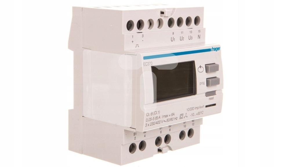 Licznik energii elektrycznej 3-fazowy 230/400VAC 6
