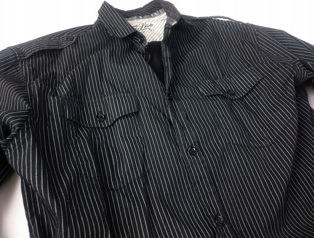 Koszula NEXT rozmiar M czarna w białe paski
