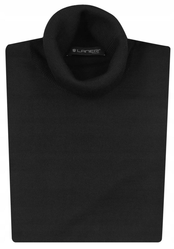Klasyczny czarny golf męski sweter Lanieri SW10 M