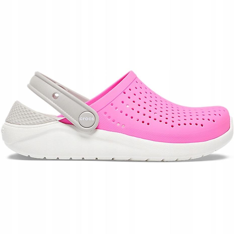 Crocs dla dzieci LiteRide Clog Kids różowo-białe 2