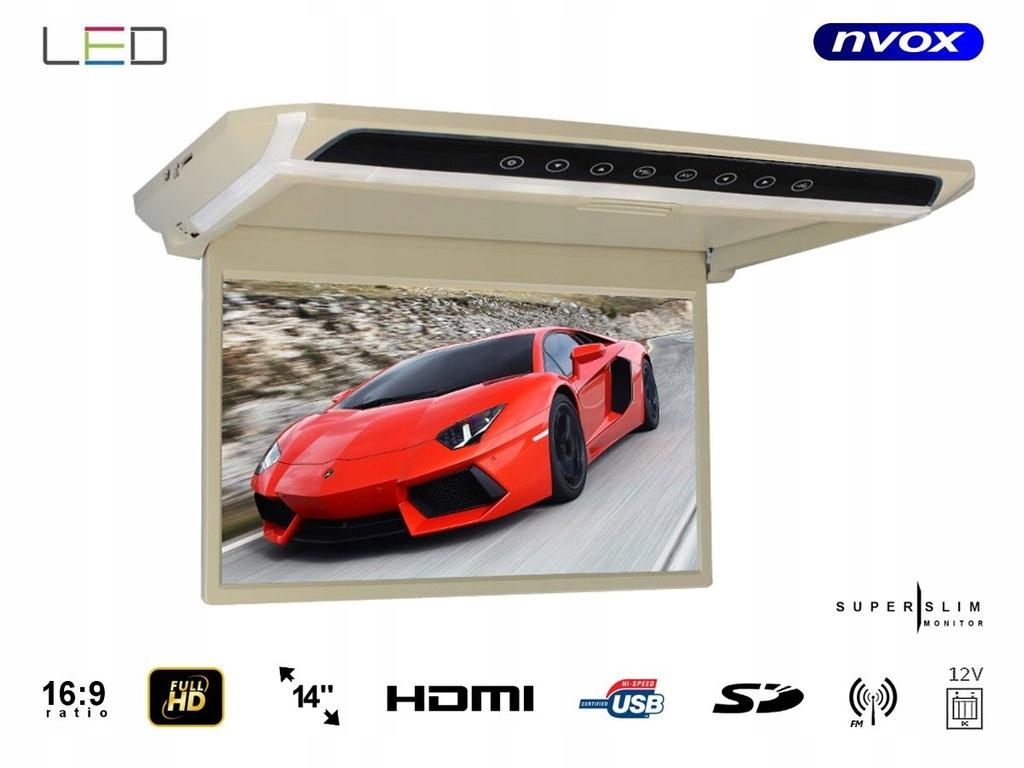 Monitor podwieszany podsufitowy LED 14cali HD HDMI