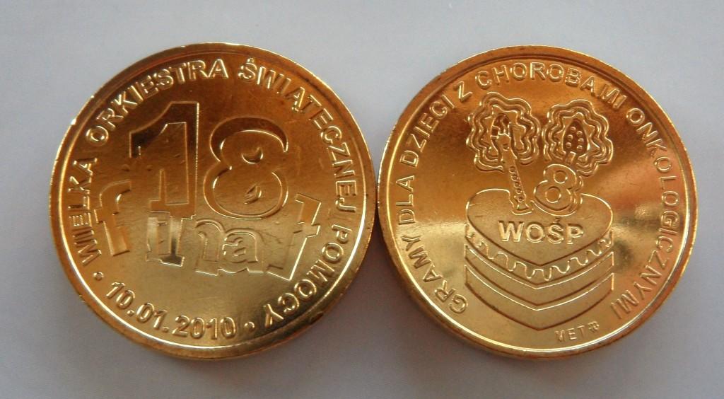 Pamiątkowy Numizmat 18 Finału WOŚP 2010