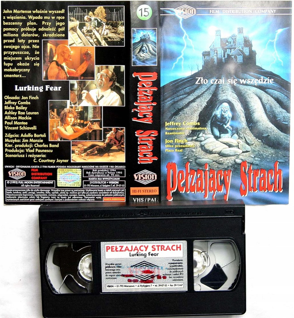 Pełzający strach - VHS