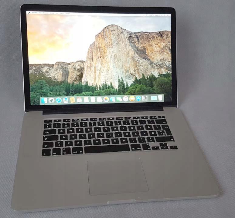 MacBook Retina 15 i7 2.2GHz 16GB 512SSD IDEAŁ 2015