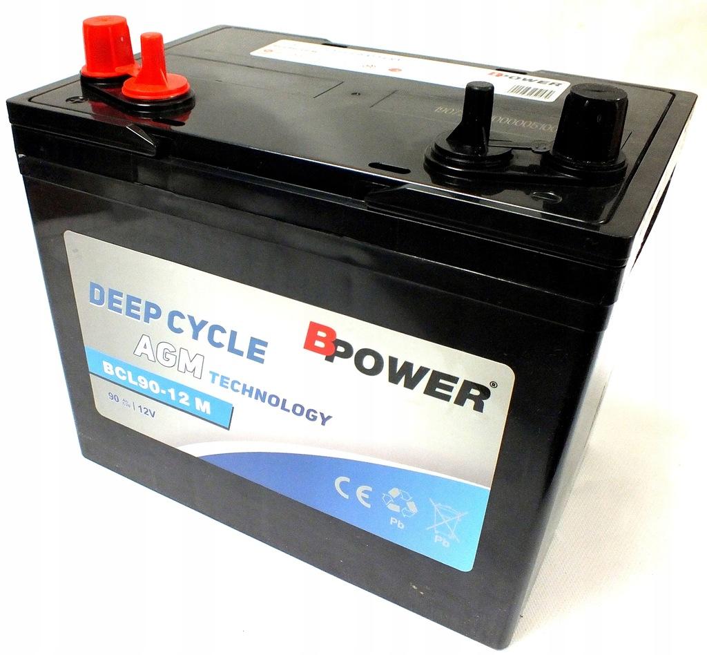 Akumulator BPower AGM BCL90 12V/90 Ah semi-trakcja