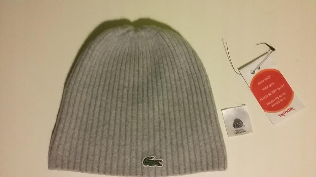 LACOSTE czapka -wełana