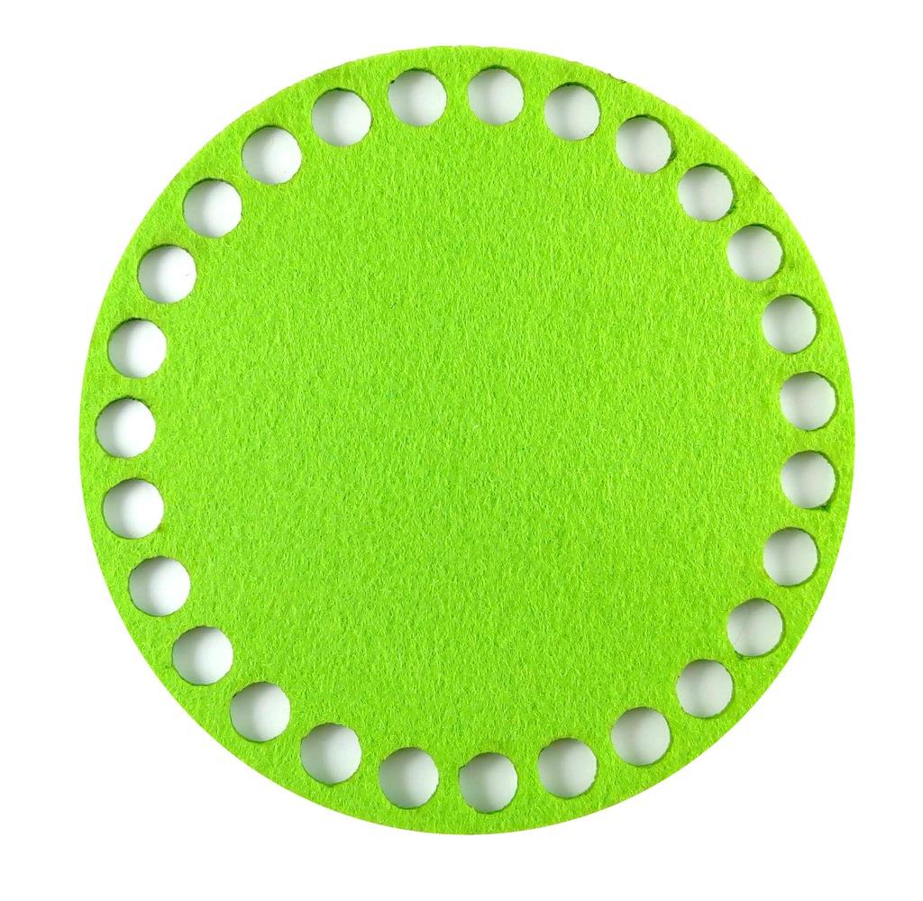 Baza do koszyka dno wieczko pełne filc zielony 600