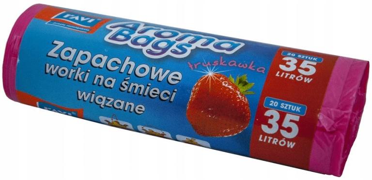 Worki na śmieci Aroma Bags Truskawka 35L