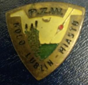 Odznaka wędkarska PZW Lublin Miasto