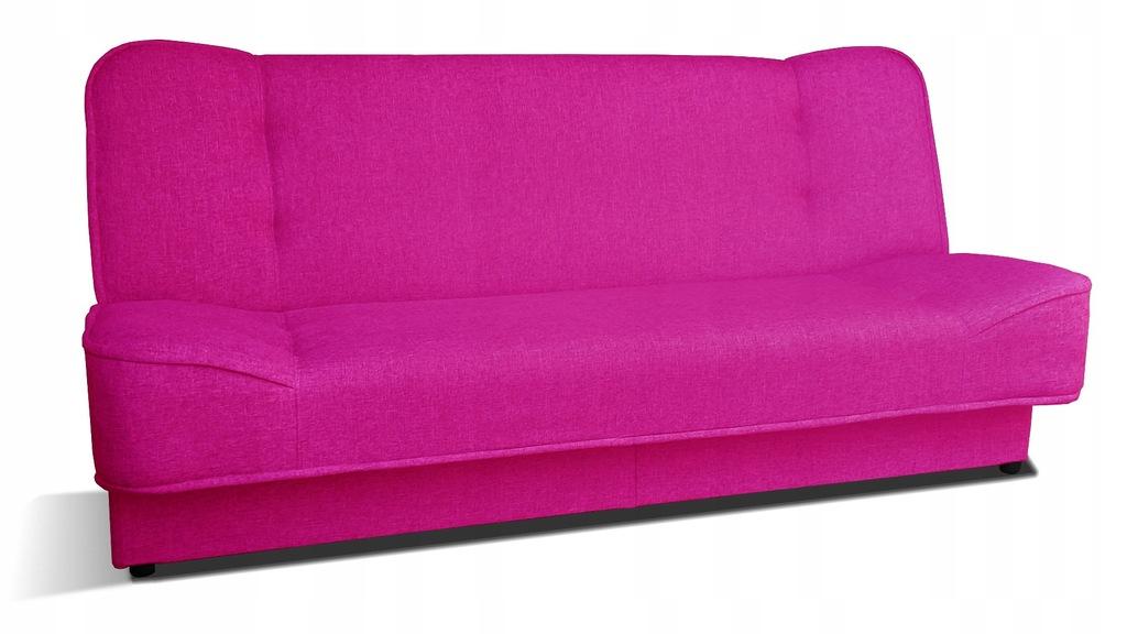 Kanapa WERA rozkładana wersalka sofa różowa RIBES