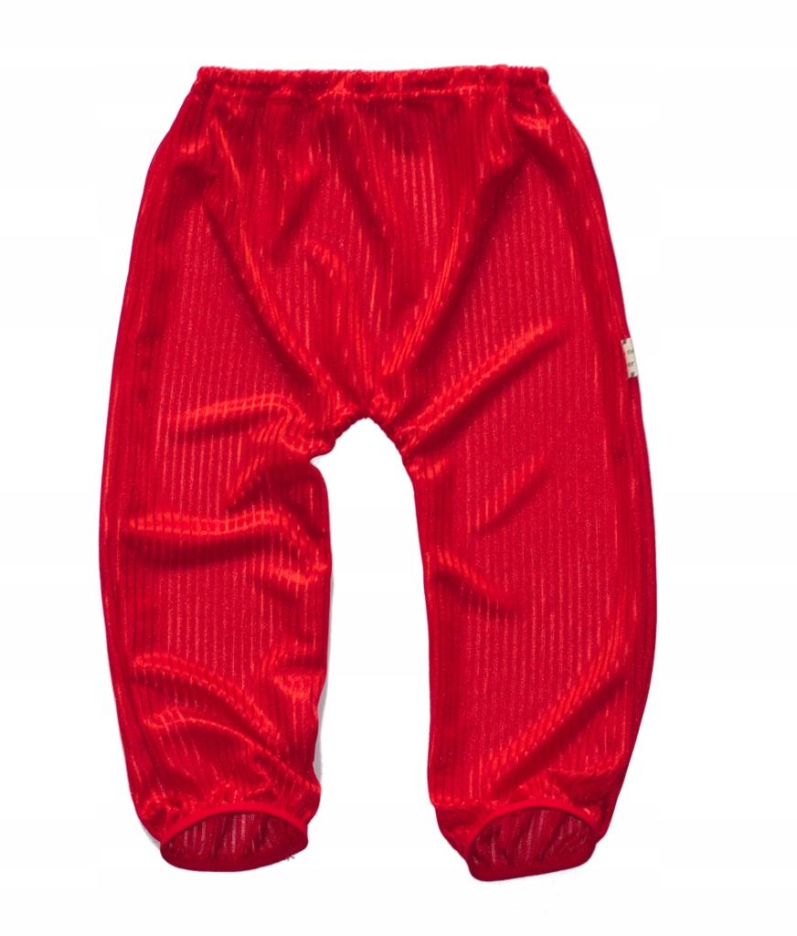 Spodnie Haremki alladynki czerwone miękkie 74-80cm