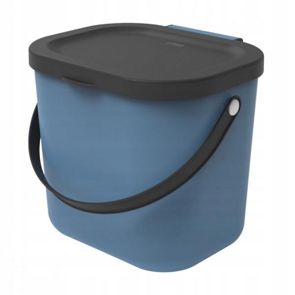 KOSZ na śmieci BIO SEGREGACJA ŚMIECI 6l niebieski