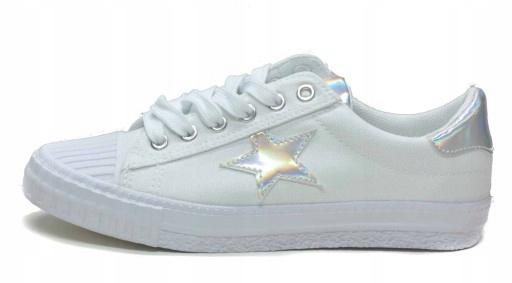 Białe Trampki z Gwiazdą N.E.W.S. 7SP30 0110 r.41