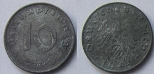 Niemcy 10 reischpfennig 1944 E
