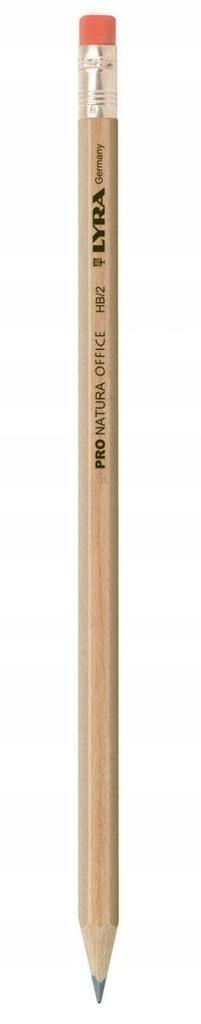 Ołówek Lyra Pro Natura HB z gumką