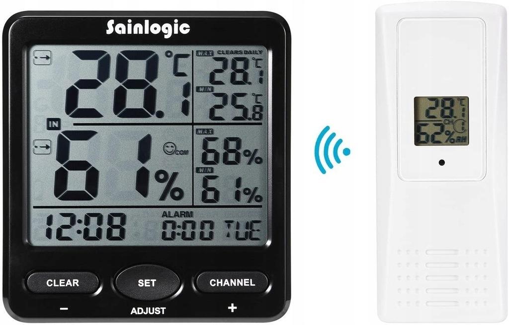 sainlogic-T-01 stacja pogodowa termometr z budziki