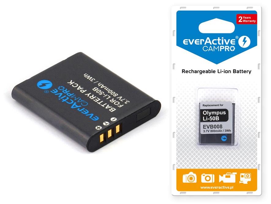 Bateria everActive do OLYMPUS VR-360 Kit