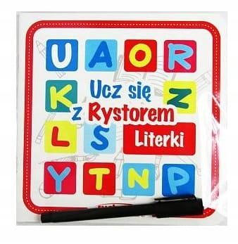 RYSTOR Książeczka LITERKI + pisak Zestaw EDU