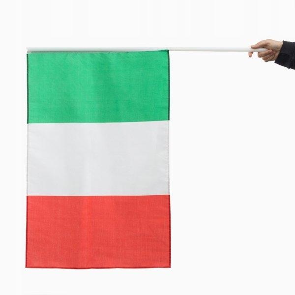 Flaga Włoch z Masztem 90 x 60 cm