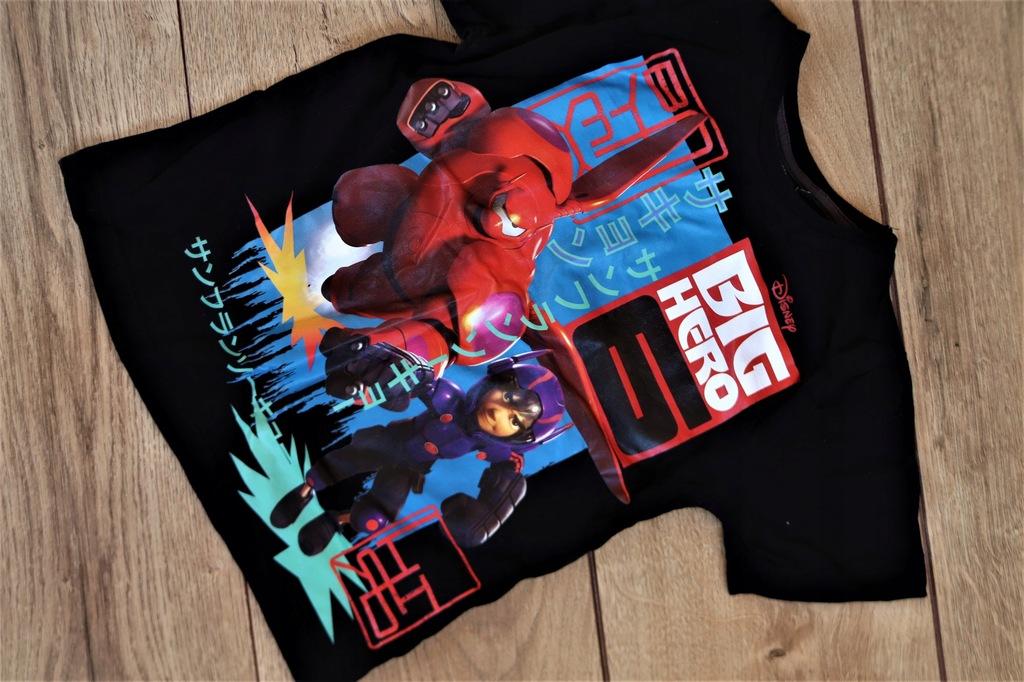 DISNEY BIG HERO czarny t-shirt chłopięcy 116cm