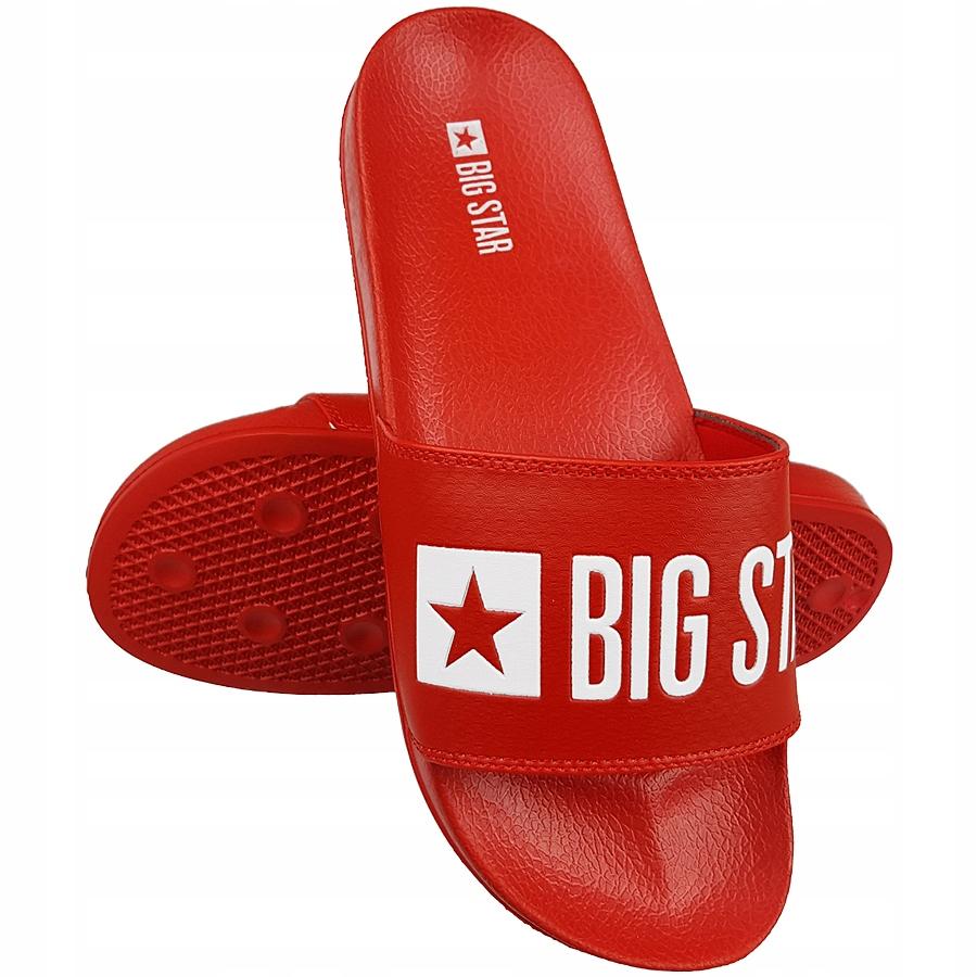 klapki big star czerwone męskie